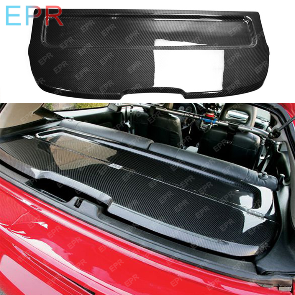 For Honda EG Civic Hatch Back Rear Cargo Carbon Trunk Cover Glossy Bodykits