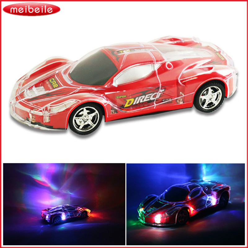 Aurora αναβοσβήνει το αυτοκίνητο RC 20 * 8.5 * 4.5cm διαφανή προστατευτικό κέλυφος 4CH τηλεχειριστήριο παιχνιδιών αγωνιστικά αυτοκίνητο παιχνίδι μοντέλο αυτοκινήτου τυχαίο χρώμα