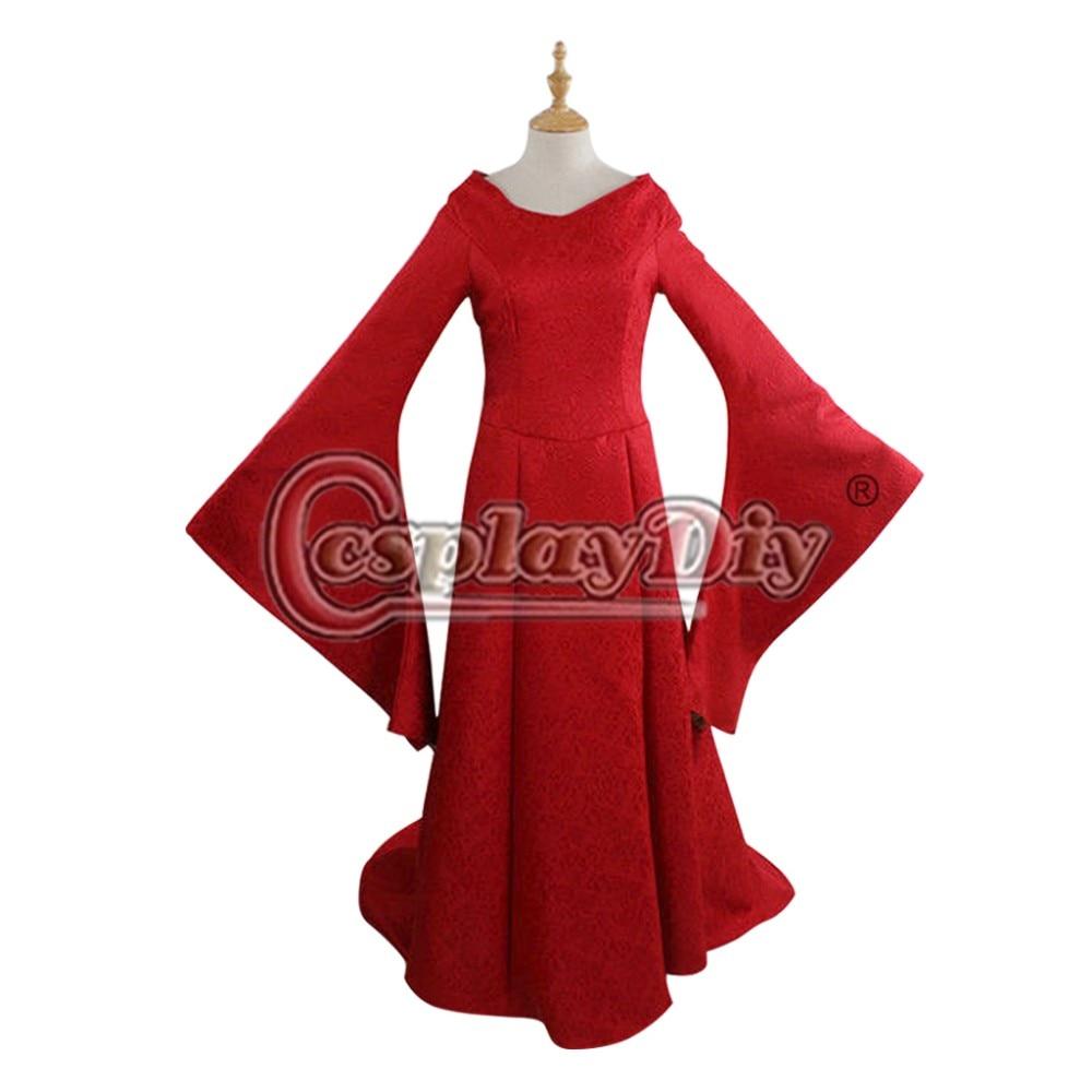 Cosplaydiy  Game of Thrones Cersei Lannister Red Dress Women Halloween Cosplay Costume Custom Made D0918