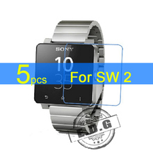 5pcs Gloss Ultra Clear LCD Screen Protector Film Cover For Sony SmartWatch 2 SW2 Protective Film