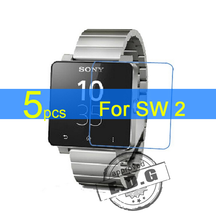 5pcs Gloss Ultra Clear LCD Screen Protector Film Cover For Sony font b SmartWatch b font