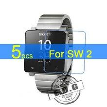 5 stücke Glanz Ultra Clear LCD Screen Protector Film Für Sony SmartWatch 2 SW2 Schutzfolie + tuch