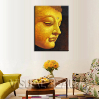 FREE SHIPPING 2014 High Quality Wholesale Buddha Painting Canvas Art Print on Canvas(Unframed)60x80cm