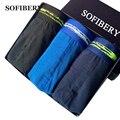 Sofibery 2017 novos modelos 3 pçs/lote marca projeto original sexy underwear cuecas masculinas de algodão dos homens de grande tamanho de três cores opções