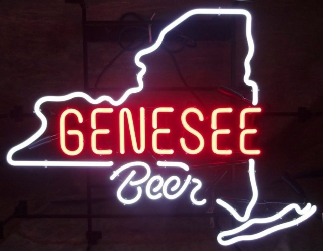 Custom Genesee Beer Glass Neon Light Sign Beer Bar