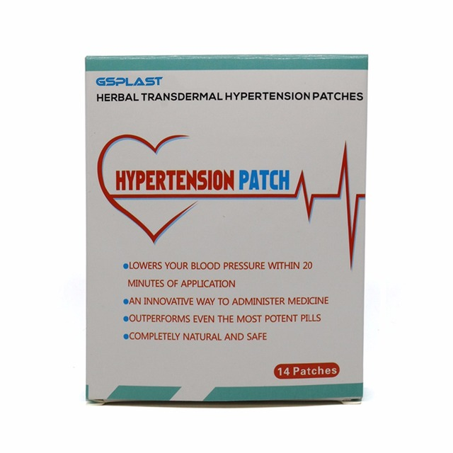 14pcs/boxes Hypertension Patch Chinese Herbal Reduce Control High Blood Pressure Clean Blood Vessel Lower Blood Pressure Patch