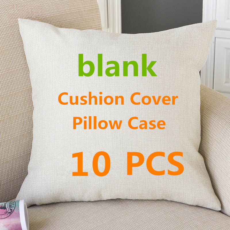 10 Pcs Wholesale Blank Cushion Cover Beige Sofa Pillow Case Hand Painted Material DIY Thermal Transfer