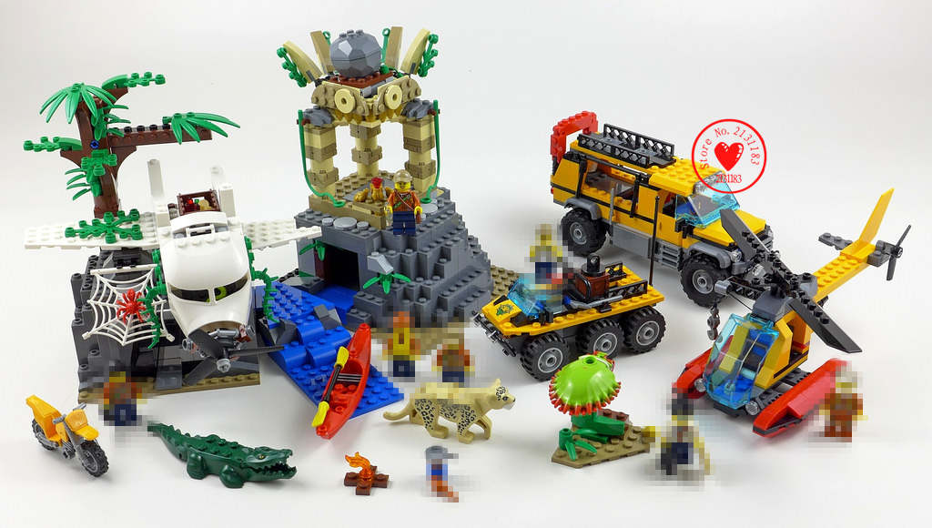 New City Exploration Jungle fit legoings city animal figures model Building Block bricks fit 60161 gift kid city Toy boy kid