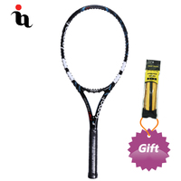 IANONI Raquetas De Tenis Profesionales Carbon Fiber High Quality Reduce Vibration MID Racket Gift Grip Tape Blue Tennis Racket