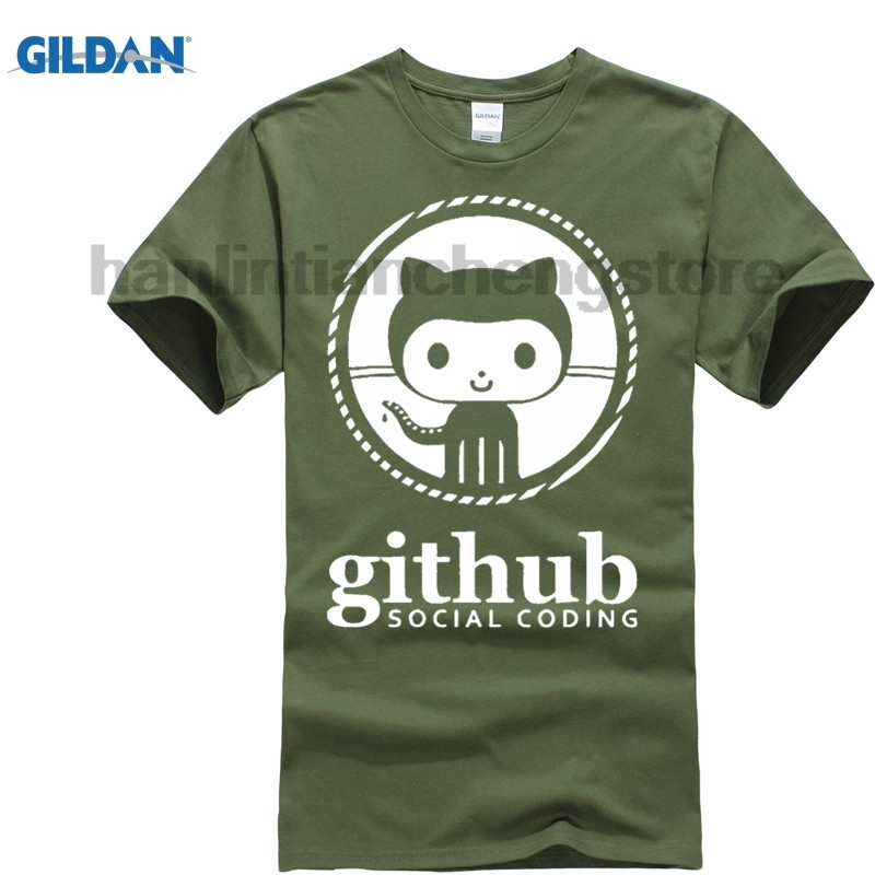 GILDAN GEEK Linux Programmer Github Social Coding Geek Mens Fashion T shirts O-neck 100% Cotton 220gms Boys Solid T-shirt