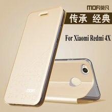4X Новые звезды рисунком Mofi люкс ПУ Флип кожаный чехол противоударный чехол для телефона для Xiaomi Redmi 4X (5.0″) Стенд Функция MTX1