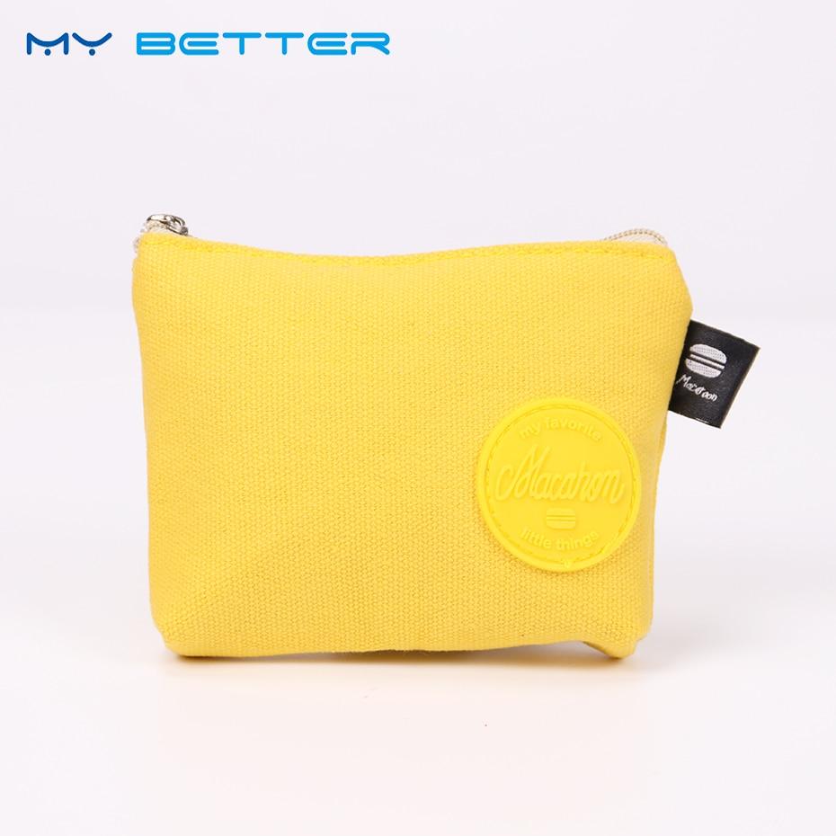 Candy Colored Canvas Coin Purse Women Coin Purse Girls Cute Fashion Ladies Kids Mini Zipper Wallet Bag