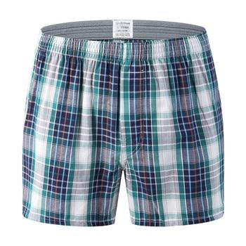 Mens Underwear Boxers Loose Stripe And Plaid Shorts Men's Panties Cotton Large Size Arrow Pants At Home Underwear Men