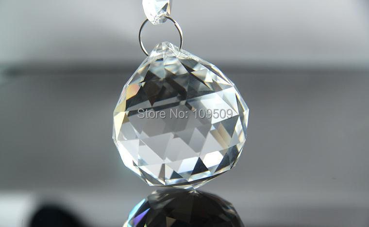10pcs/lot  AAA 30mm Clear Hanging CRYSTAL SPHERE/BALL Suncatcher Feng Shui Prism Pendant  Free Shipping