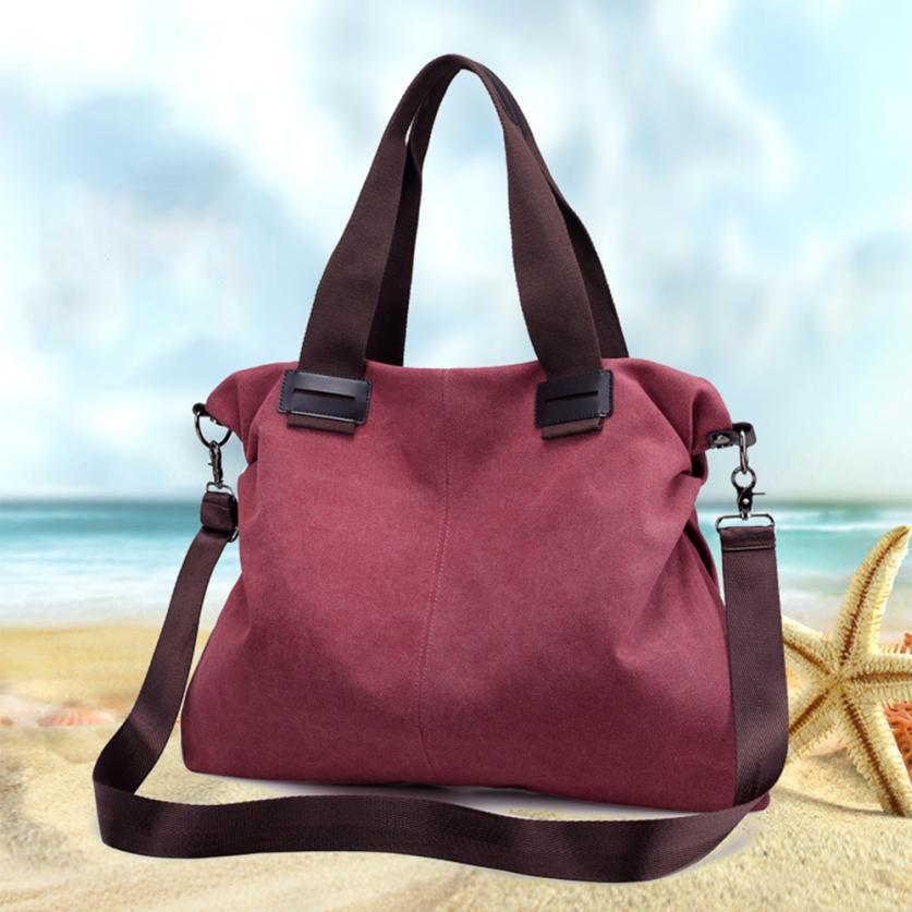 Последние Женская мода холст сумка Ms. однотонная одежда Высокое качество сумка большой Ёмкость сумка # F