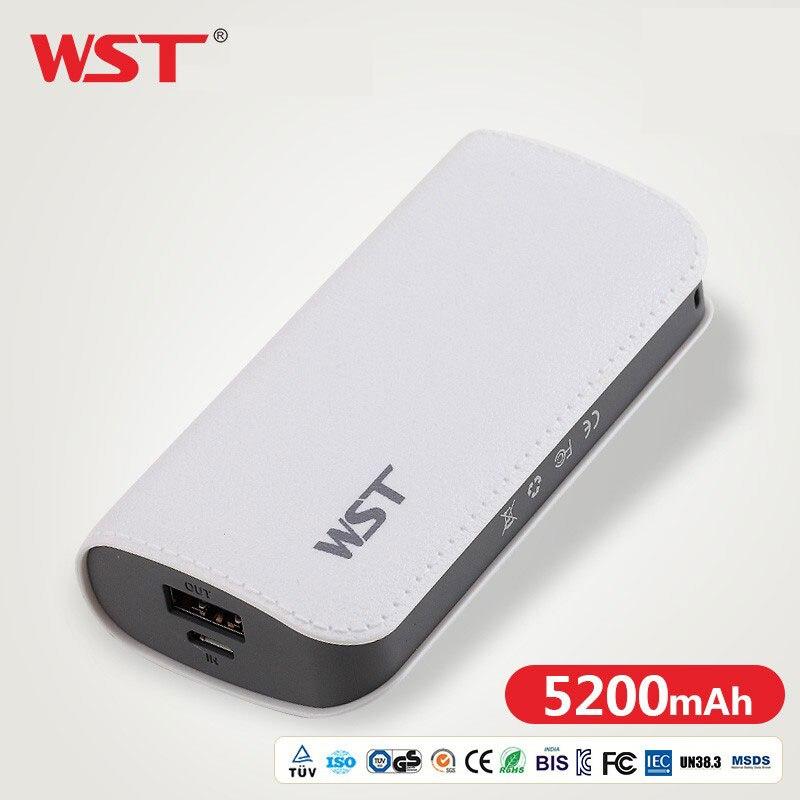WST Bonito Power Bank 5200 mAh Para Xiao mi mi 2 USB Pequena Pover Banco mi ni Bateria Externo Portátil poverBank Para O Telefone Móvel