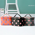 Ladies Handbag Professional Makeup Bag Folding Big Dot Cosmetic Makeup Case Travel Organizer Bags with Handle