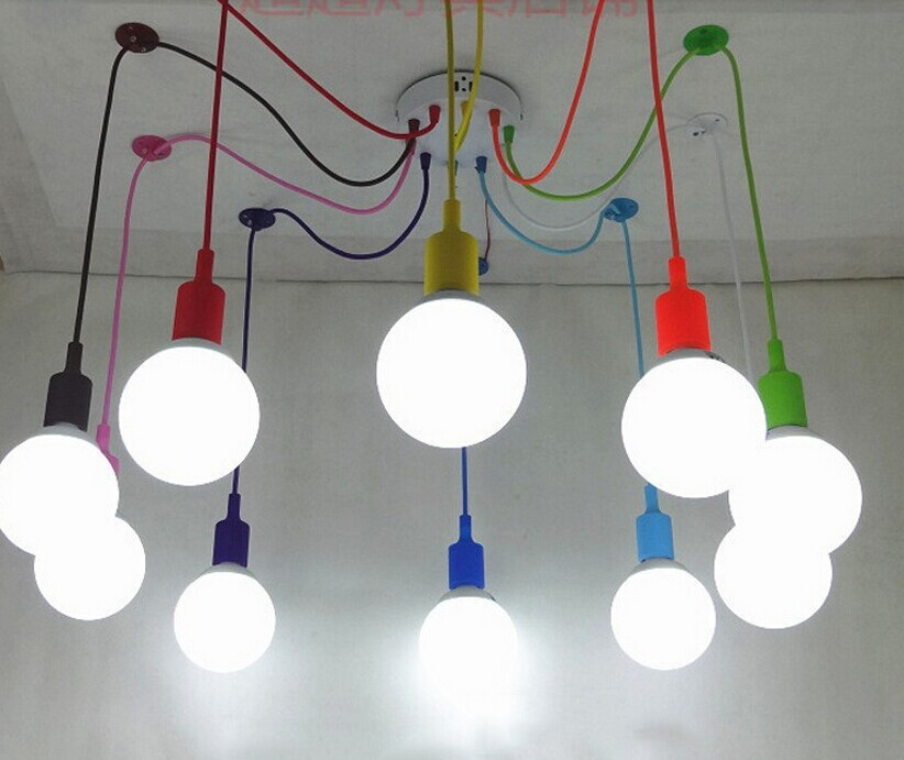 где купить E27 Spider-colored Pendant Lighting Children's Room Bedroom Decorated Restaurant Cafe Clothing Store Lamps по лучшей цене