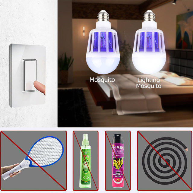 220V LED Mosquito Killer Bulb E27/B22 LED Bulb For Home Lighting Bug Zapper Trap Lamp Insect Anti Mosquito Repeller Light 5