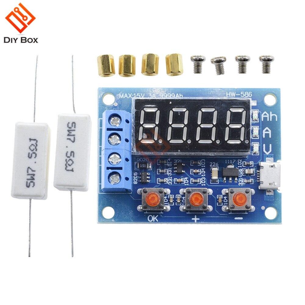 1.2V 12V 18650 HW-586 Li-ion Lithium Battery Capacity Tester + Resistance Lead-acid Battery Capacity Meter Discharge Tester