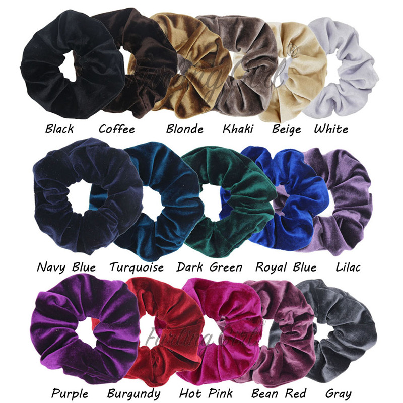 Furling Gilr 1 Pc Large Size Korean Velvet Scrunchies Ponytail
