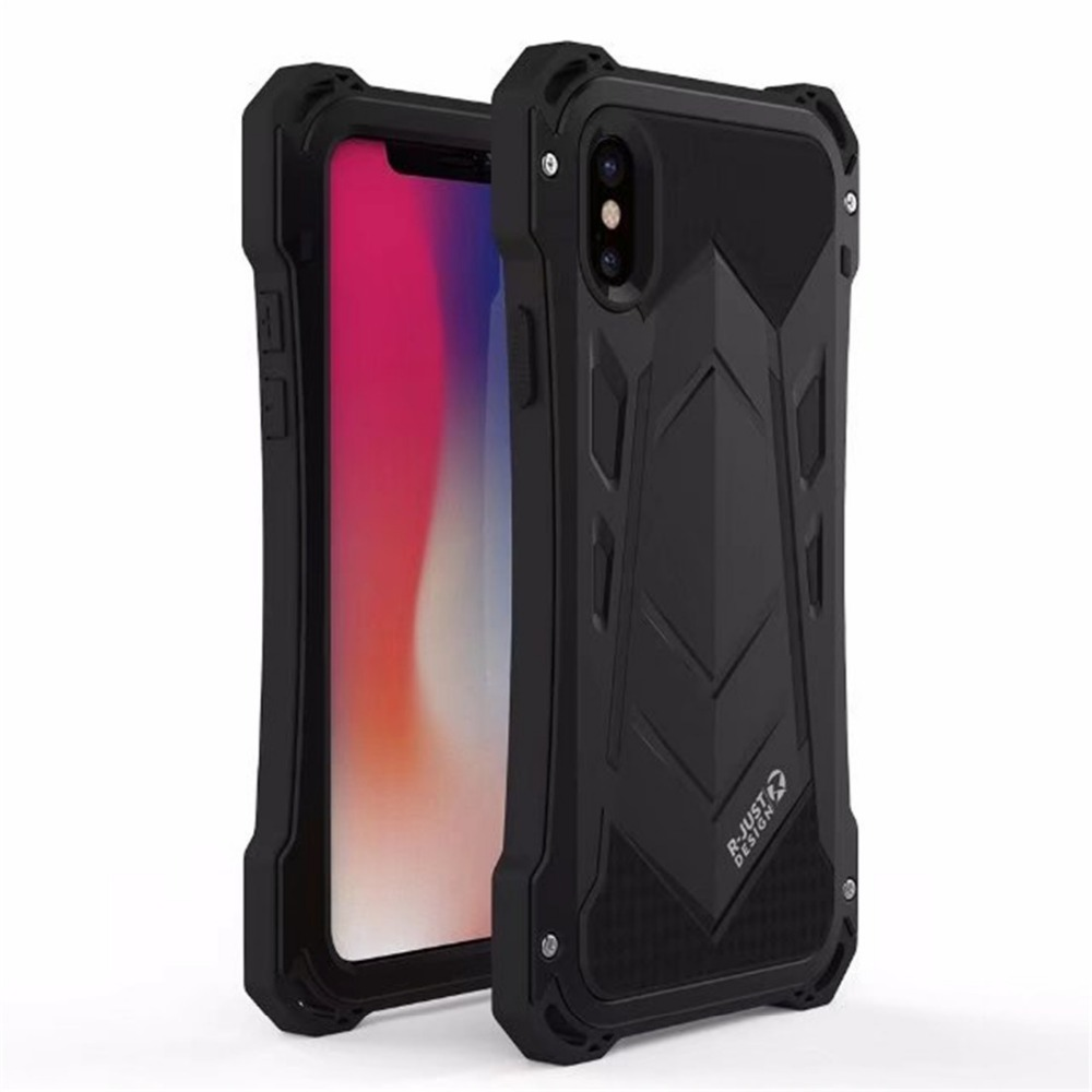 R JUST Outdoor Shockproof Dirtproof Waterproof Metal&Silicone Phone Cover Cases for Apple iPhone