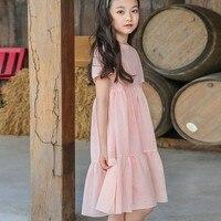 cotton hollow out summer dress for girls white pink ruffles toddler dress children girl knee length dress clothing 2018