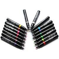 16 Pcs Lot Fashion Nail Art Pen For 3D Nail Art DIY Decoration Nail Polish Pen