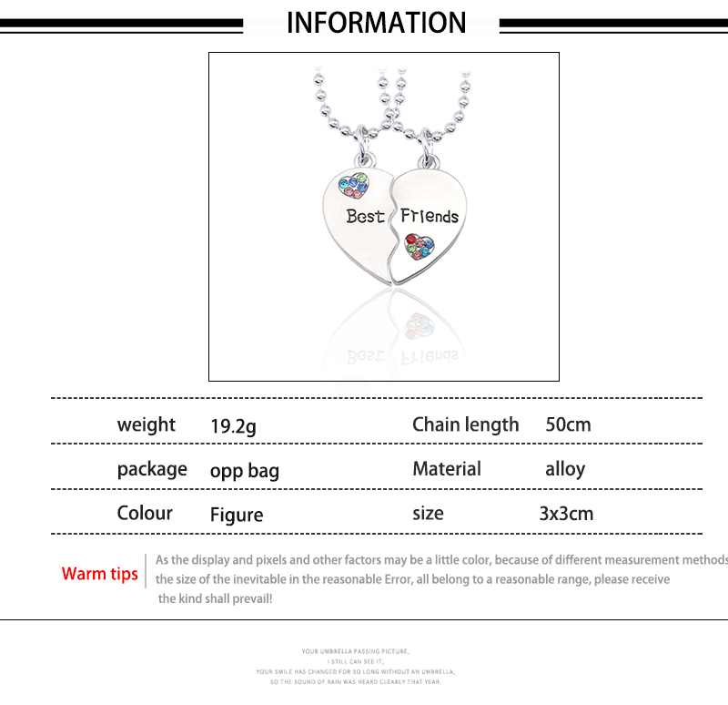 HTB1irTNXh2rK1RkSnhJq6ykdpXaP - Best Friend Necklace Women Crystal Heart Tai Chi Crown Best Friends Forever Necklaces Pendants Friendship BFF Jewelry Collier