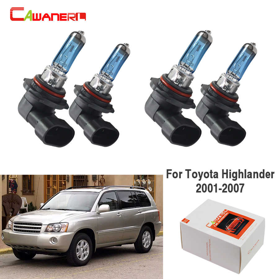 Cawanerl 2 Pair 9005 + 9006 100W Car Halogen Bulb Headlight Light Accessories For Toyota Highlander 2001-2007