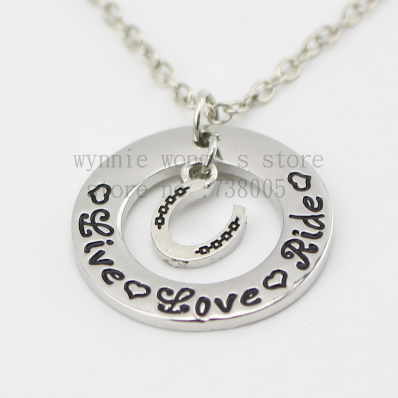 Buy 2015 live love ride necklace hand for Custom made jewelry stores