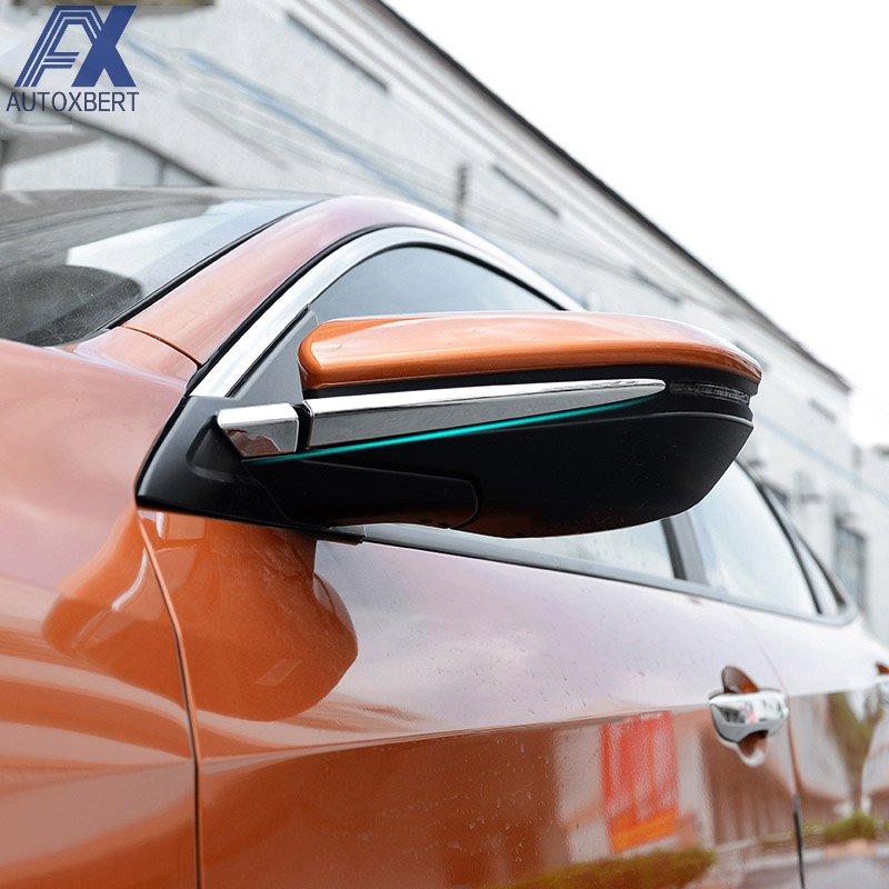 4pcs Plating Side Mirror Wing Mirror Strip Trim For Honda Civic 2016-2017