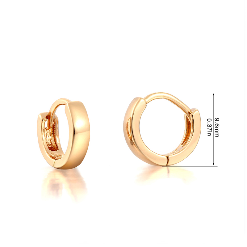 Cute Yellow Gold Color Mini Slim Small Huggie Hoop Earrings for ...