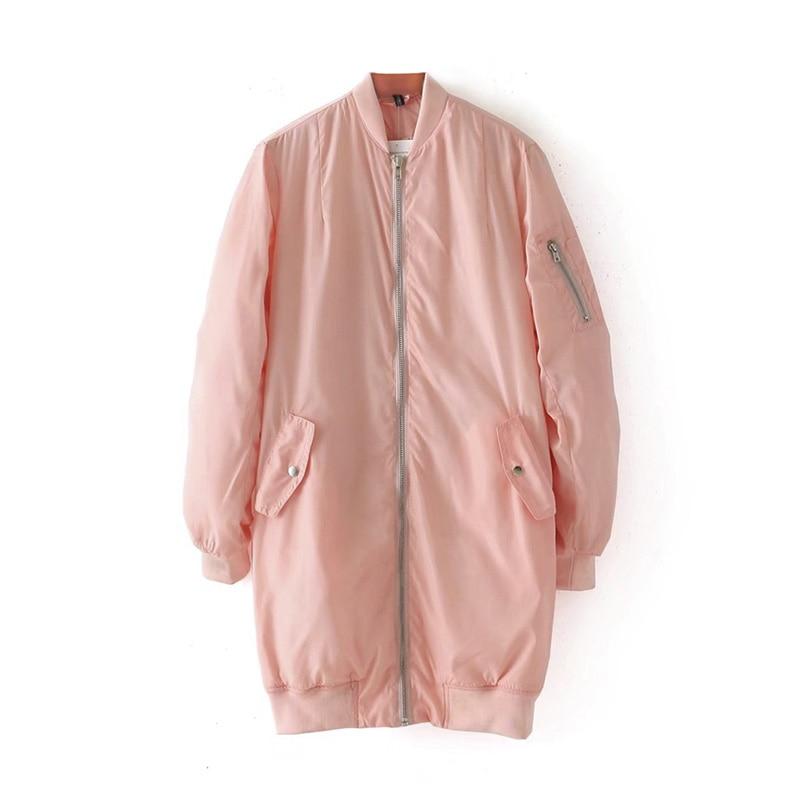 Taille Couleur Pêche Mélange Stand Longue Tous Rose Pilote Tissu Section Col Automne Une Épaississent Essentiel Adapte 2017 Manteau qwyF6gRp