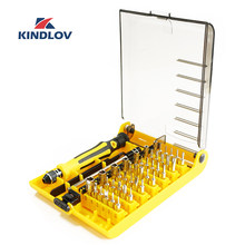 KINDLOV Screwdriver Set 45 In 1 Precision Parafusadeira Insulated Screw Driver Magnetic Handle Multi Hex Torx Bit Kit Hand Tools(China)