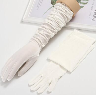 Women's Spring Summer Sunscreen  Long Modal Cotton Gloves Female Summer Uv Protection Touch Screen Long Gloves 60cm R876
