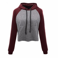 2016 Women Hoodies Casual Women Long Sleeve Round Neck Hoodies Sweatshirt Women S American Apparel Fashion