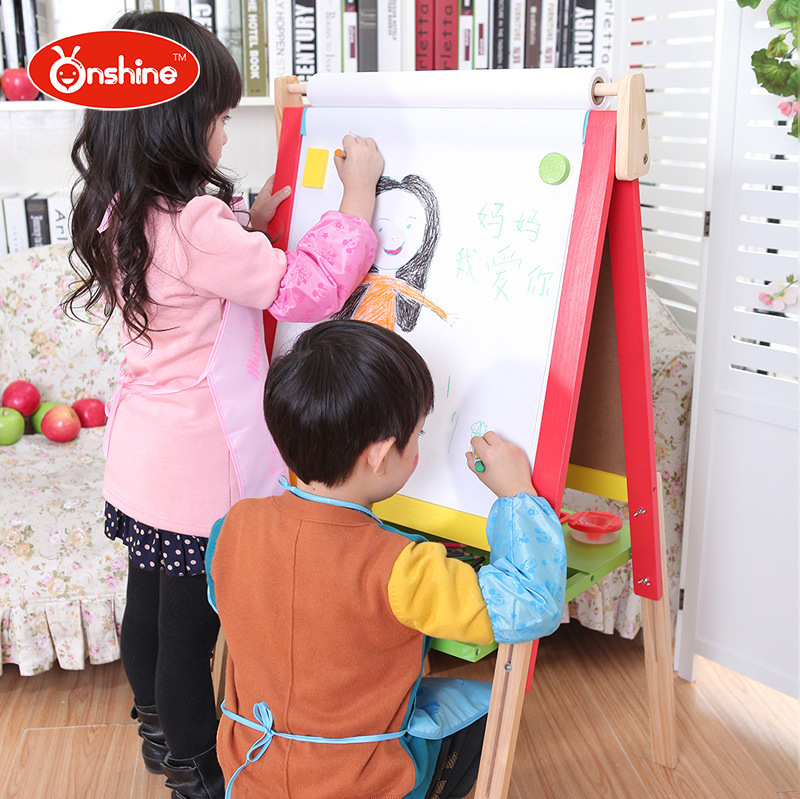 90~106cm ONSHINE adjustable Child double side Wooden Magnetic Blackboard Whiteboard Kids Writing Drawing toy Eraser Chalk Marker 90 106cm onshine adjustable child double side wooden magnetic blackboard whiteboard kids writing drawing toy eraser chalk marker