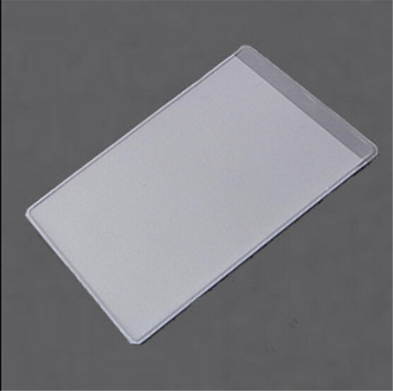 10pcs Clear Dustproof Card Holders Soft Plastic Credit Card Protectors Bussiness Card Cover ID Holders