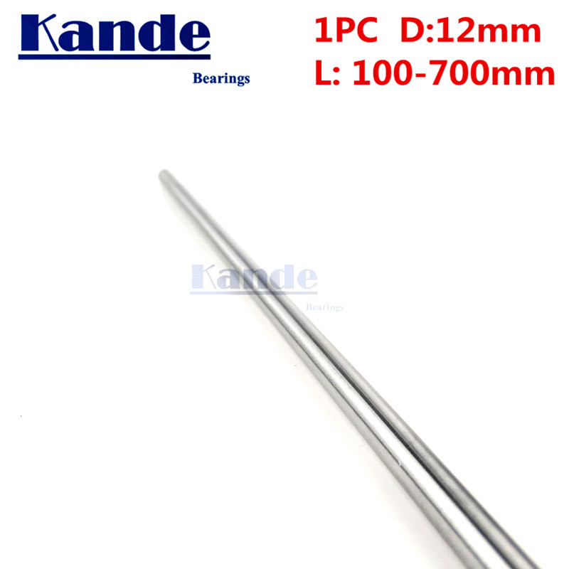 Kande Bearings 1pc d: 12mm 3D printer rod shaft 12 mm linear shaft  chrome plated rod shaft CNC parts 100 - 600mm