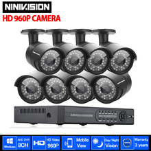 HDMI 1080P 3G wireless security camera system kits CCTV 8CH AHD 1080P DVR System Outdoor 1.3MP Bullet Cameras HD CCTV DVR KIT