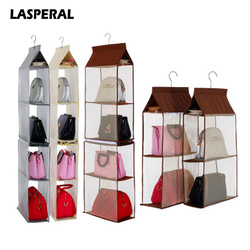 Lasperal съемный 4 слоя шкаф висит сумка для хранения Кошелек Сумочка Сумка Обувь хранения Организатор Rack Вешалки хранения