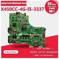 X450CC плата для Asus X450CC X459CC I5 3337U HM76 GT540M 4 г неинтегрированный Материнская плата ноутбука 8 памяти REV2.3 полностью тестирование