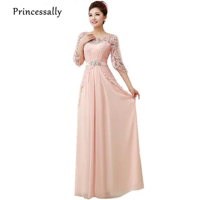 Pink Bridesmaid Dress Setengah Lengan Renda Elegan Gaun Bridesmaid Chiffon  Dresses Ice Blue Warna Ungu Untuk debc080b833e