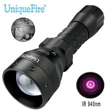 UniqueFire 1407 IR 940nm LED Flashlight Infrared Light 38mm