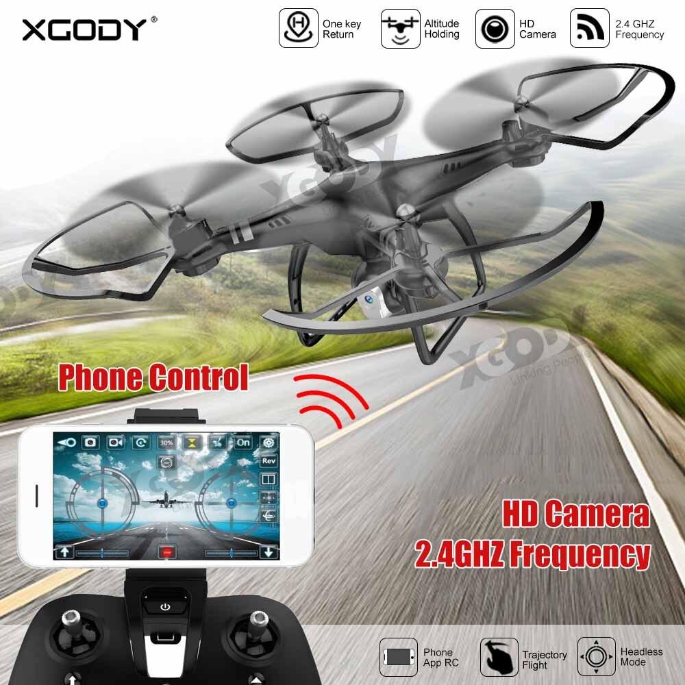 Câmera RC Drone XGODY 0.3MP FPV RC Quadcopter Câmera HD Profissional Mini 2.4 Ghz WI-FI Avião Para Caçoa o Presente