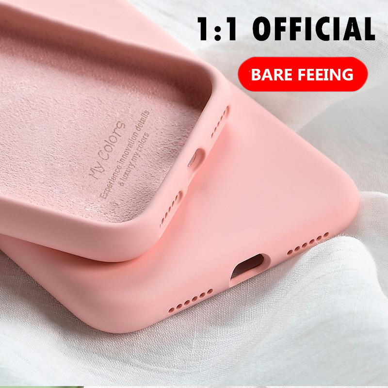 Original Soft Summer Liquid Silicone <font><b>Case</b></font> for <font><b>iPhone</b></font> X XR XS Max 8 7 <font><b>6</b></font> 6S <font><b>Plus</b></font> 11 Pro Rubber Shockproof Cover Protective <font><b>Cases</b></font> image