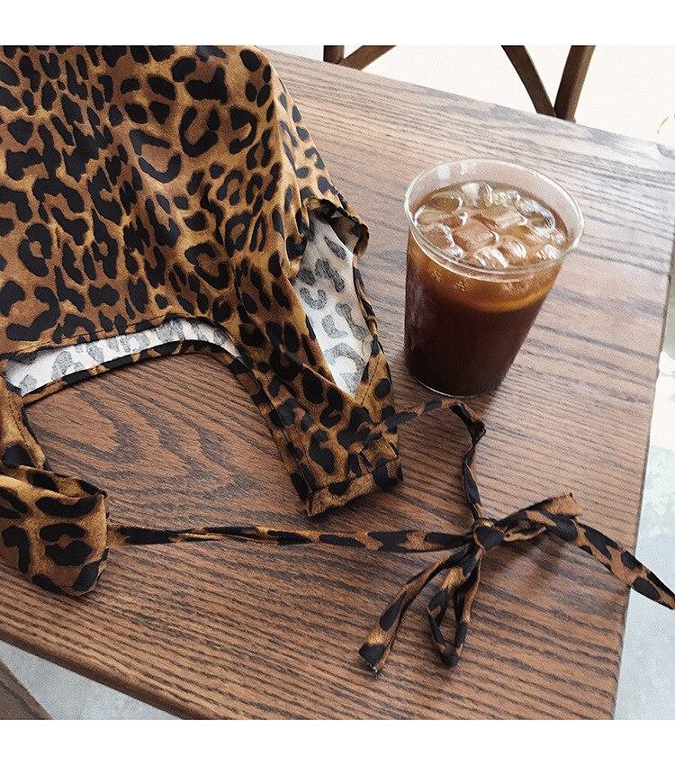 YILE Nova Moda Marrom Leopardo Algodão Lona