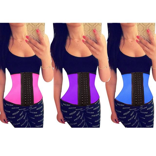 Ann Cherry style 9 Steel Boned Corset Latex Waist Trainer Waist Slimming Corsets For Women Latex Waist Cincher Hot Body Shaper