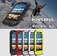 Original LOVE MEI Powerful Waterproof Aluminum Metal Case For HTC One M8 With Gorilla Glass Retail